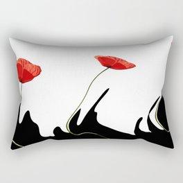 Moving poppies Rectangular Pillow