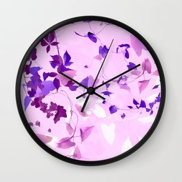 Pink ivy Wall Clock