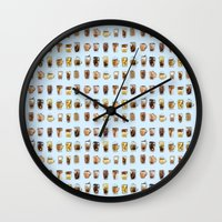 cafe Wall Clocks featuring Cafe  by Breakfast Box