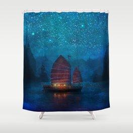Our Secret Harbor Shower Curtain