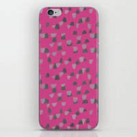 gray pattern iPhone & iPod Skins featuring Pink & Gray pattern by Georgiana Paraschiv
