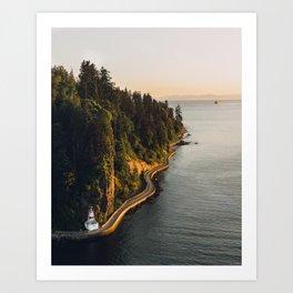 A Curvy Park - Vancouver, British Columbia, Canada Art Print