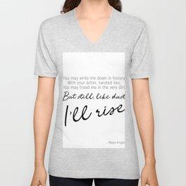 I'll rise #minimalism Unisex V-Neck