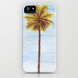 Palm Tree - Watercolor iPhone Case