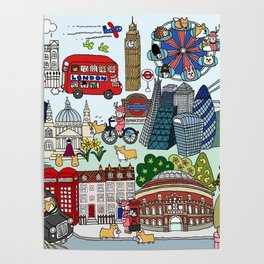 The Queen's London Day Out Poster