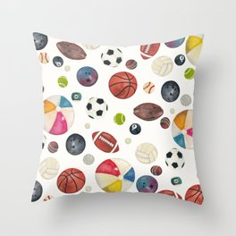 Sports fever Throw Pillow