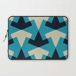 Geometric pattern summer blue invert Laptop Sleeve