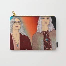 Social Jetlag - Mean Girls Stare, Nice Girls Smile - Digital Art Carry-All Pouch
