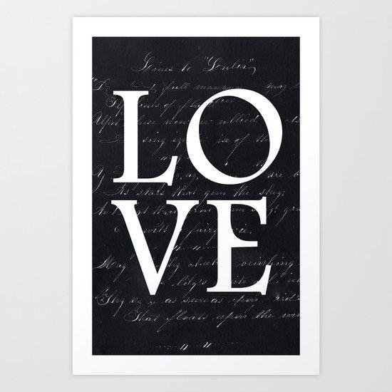 love - black edition Art Print