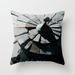 Photograph Gray Stone Circular Sculpture Art Print Throw Pillow