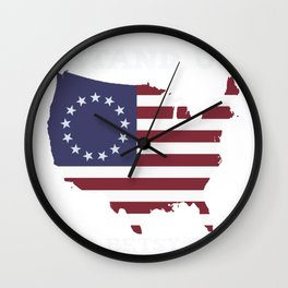 Stand up for Betsy Ross Wall Clock