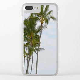 Palm Trees in Hawaii Clear iPhone Case