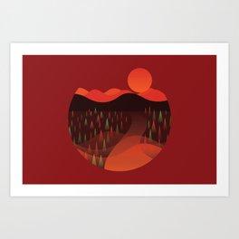 Fall Cirlce Art Print