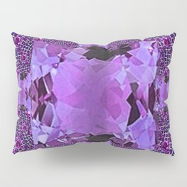 Amethyst Purple Square Gems February Birthstones Pillow Sham