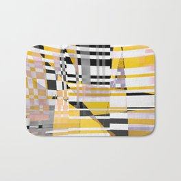 barcode splash. bumblebee Bath Mat