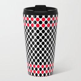 BLACK&RED POLKA DOTS Travel Mug