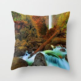 Plymouth Falls Throw Pillow