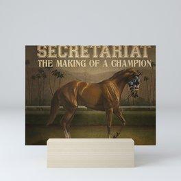 Animals World Secretariat Champion Mini Art Print