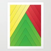 rasta Art Prints featuring Rasta Triangles by Arlo @ Creative Konzepts