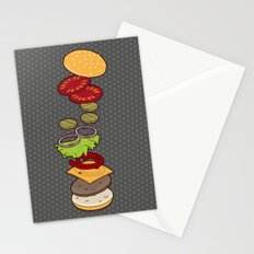 cheeseburger exploded Stationery Cards