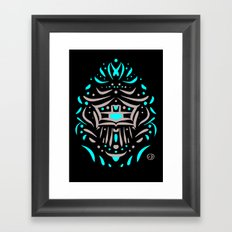 Temple of faces Framed Art Print