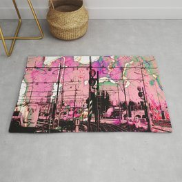 All About the Journey, Abstract Grunge Train Rug