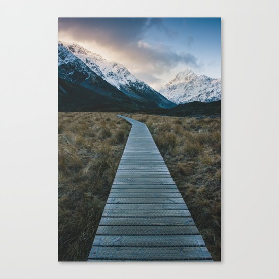Pathway to Mount Cook Canvas Print