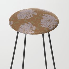 Chrysanthemums and Paisley 2 Counter Stool