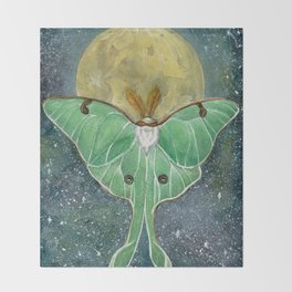 Luna Moth Throw Blanket