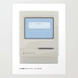 Pantone as pixel Mac Art Print