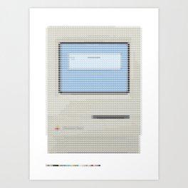 Pantone as pixel Mac Art Print
