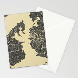 Auckland Map Stationery Cards