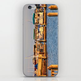 Docked Boats  iPhone Skin