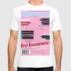 Cosmarxpolitan, Issue 12 Mens Fitted Tee MEDIUM White