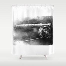 Reel Flyreel Shower Curtain