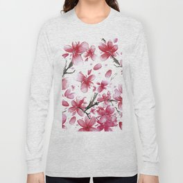 Cherry Blossoms #society6 #buyart Long Sleeve T-shirt