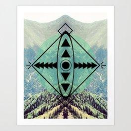 Mountians and Print Art Print