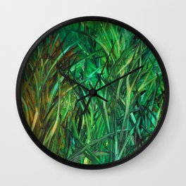This Grass is Greener Wall Clock