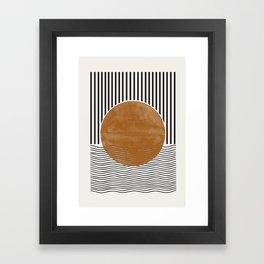 Abstract Modern Poster Framed Art Print