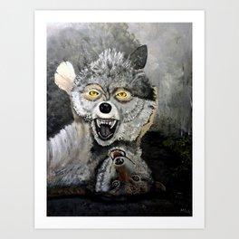 Wolf Play Art Print