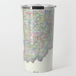 Indiana map Travel Mug