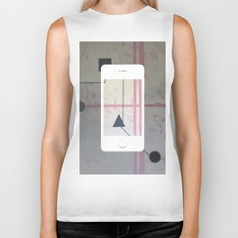 Sum Shape - iPhone graphic Biker Tank