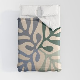 Matisse cutouts abstract drawing, Comforters