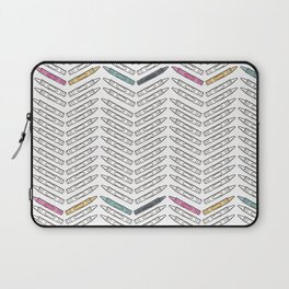 Black and White and Bright Crayon Back To School Print Laptop Sleeve
