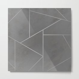 Grey Cutout Metal Print