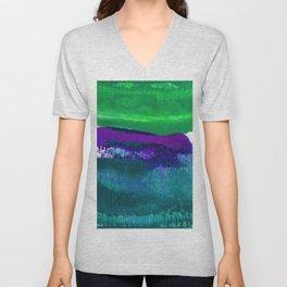 Encaustic Abstract No.27C by Kathy Morton Stanion Unisex V-Neck