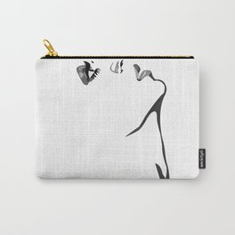 Black & White Solange. Carry-All Pouch