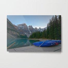MORAINE LAKE AUTUMN - BANFF NATIONAL PARK CANADA - LANDSCAPE PHOTOGRAPHY PRINT Metal Print
