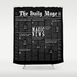 The Daily Mage Fantasy Newspaper II Shower Curtain