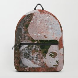 Heavy Crown: Red (nude butterfly pin up, erotic graffiti) Backpack